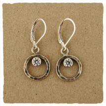 Sterling silver floating CZ earrings