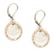 Two-tone leverback earrings