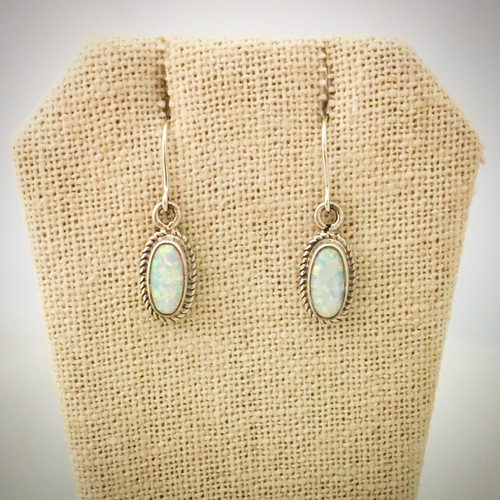 Cultured Opal and Sterling Silver earrings