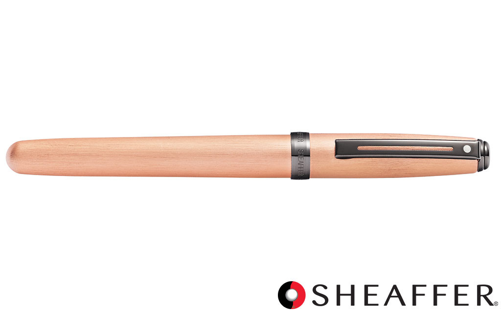 polished chrome with gold-tone trim Refillable fountain pen with medium grade stainless steel nib Sheaffer VFM