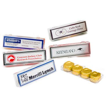 Horseshoe Chocolates 4-pack with card