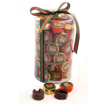 Horseshoe Chocolates 75 individually wrapped and labeled