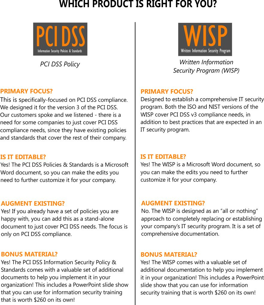 pci dss v3 1 information security policies standards