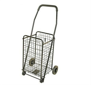 Folding Travel Rolling Shopping / Laundry Basket Cart TPG-68003L