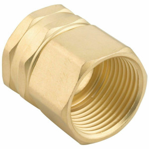 "Green Thumb Brass Double Female Swivel 3/4"" Hose to 3/4"" Pipe Connector 7FPS7FGT"