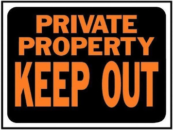 "Hy-Ko 9""x12"" 3016 Plastic Private Property Keep Out Sign Lot of 10"