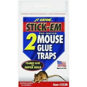 JT Eaton 233N Pre-Baited Mouse Glue Traps 2 Pack
