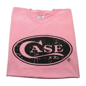 Case XX 50228 Knife Accessories Medium Hot Pink Case Cotton T-Shirt is made from 100% in the U.S.A & features the XX Case signature oval logo on the front.
