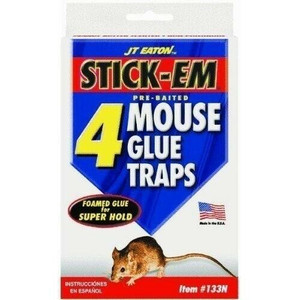 JT Eaton 133N Pre-Baited Mouse Glue Traps 4 Pack