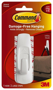 3M 17003 Command Large Utility Adhesive Hook 1PK