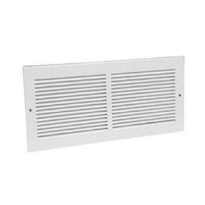 "American Metal 372W10X6R 10"" x 6""  White Return Grille"