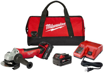 """Milwaukee Tools 2680-22 M18 Cordless Lithium-Ion 4-1/2"""" Cut-Off /Grinder has a Milwaukee 4-pole motor that delivers maximum power when cutting or grinding."""