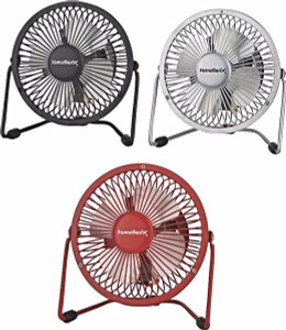 "Black Homebasix CZHV4RSB 4"" Mini Personal Fan Assorted Colors"