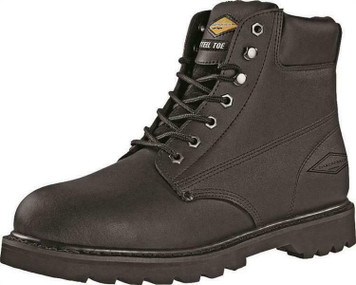 Diamondback 655SS-10 Action Leather Black Size 10 Steel Toe Work Boot