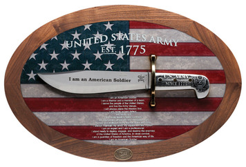 Case XX 15009 U.S. Army Commemorative Bowie Display