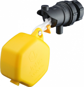 "Jobe Valves RJVC15 Rojo Compact Float Valve, 1/2"", Yellow/Black"