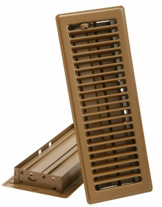 "Imperial 413B4X12-R 4"" x 12"" Brown Floor Register / Diffuser"