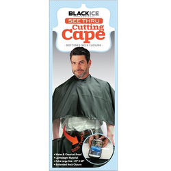 BlackIce Cutting Cape Black See Through