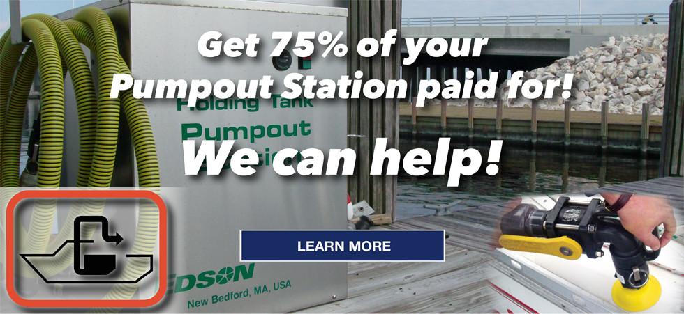 Edson pumpout grant funding through the CVA (Clean Vessel Act)