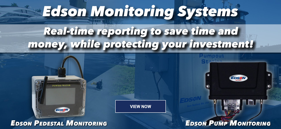 Edson wireless monitoring systems for pumps and power pedestals at marinas