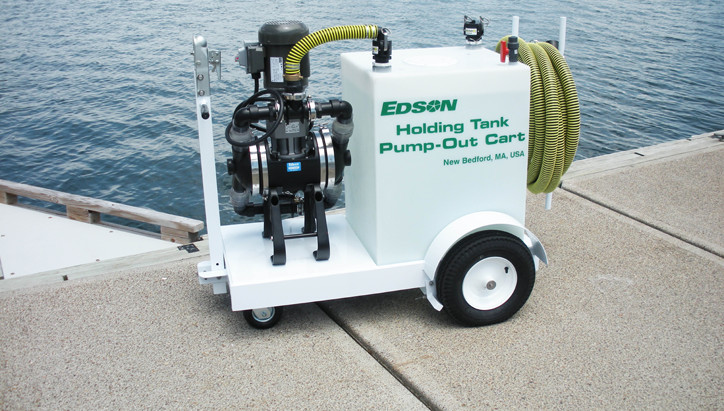 Edson portable or mobile pump systems that integrate pumps and tanks onto carts or dollies