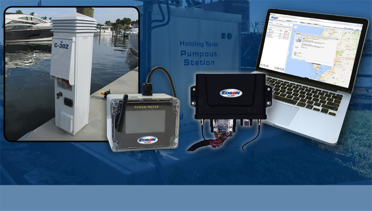 Edson wireless monitoring systems for pumps and pwer power pedestals - to measure flow volume and electricity usage