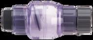 "Check Valve - Clear PVC Flapper - 1.5"" FNPT X 1.5"" MNPT"