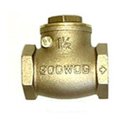 "Check Valve - Bronze Flapper - 1½"" FNPT"