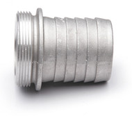 "Threaded Coupling - 2"" Male Thread x 2"" Hose Barb - Aluminum"