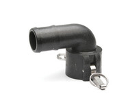 "Quick Clamp Coupling - 90º, 1½"" Female QC x 1½"" Hose Barb - Polypropylene (149FE-150NY)"