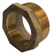 "Plumbing Threaded Reducing Bushing - 2"" Male NPT to 1.5"" Female NPT - Bronze (160-A-939-BR)"