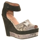Bacio 61 Capella, Womens High Heel Wedge Snake Skin