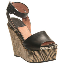 Bacio 61 Piglio, Womens Patterned Wedge High Heel Sandal