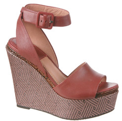 Women's Shoes, Bacio 61 Piglio, Womens Patterned Wedge High Heel Sandal red