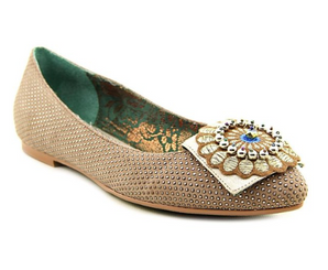 Poetic Licence Zelda Zing Flats, Poetic Licence Flats with ornate embellishment.