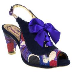 Irregular Choice Below the Belt- Black, Mix Pattern Slingback heel