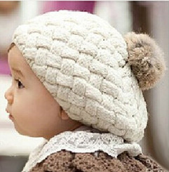 Berky Boo Finn Hat- Knitted Pom Pom Hat- Cream