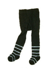 Berky Boo Bella Tights- Black with white stripe