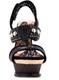 Women's Shoes, Irregular Choice Enchantment, Heel- less platform, black leather with metal studs