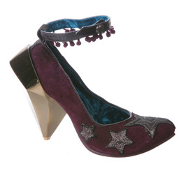 Women's Shoes, Irregular Choice Juicy Gossip, Pump with ankle strap, purple, metal gem heel