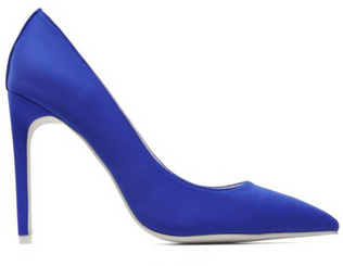 """Women's Shoes, Jeffrey Campbell Dulce, Blue neoprene stiletto pump, 4.25"""" heel"""