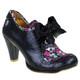 Irregular Choice Snappy Clappy, Oxford Heel with Bow, irregular choice oxford heel black
