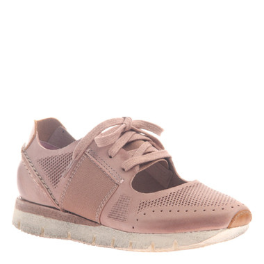 """Quarter View. Women Shoes, Women's Sneakers, OTBT Star Dust, cut out Sneaker, 1"""" heel, Color Blush (Pale Pink), Light Weight EVA outsole"""