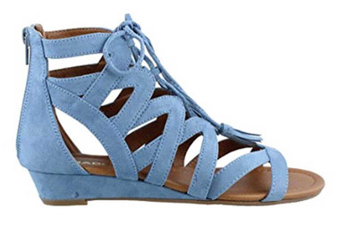 Side View: Women's Shoes, Women's Sandals, Madeline Girl Saturate, Gladiator Sandal, Color: Blue