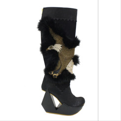 Irregular Choice, Escape Great, Eagle, Wedge boot, Funky Boots, Embellished Eagle, Cut out Heel