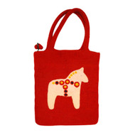 Dala Horse Felt Tote Bag (590314)