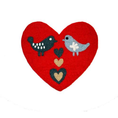 Love Birds Felt Trivet (590923)