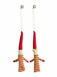 Pixy Santa Ornament Pair (14-3535)