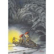 Tomtar and Lantern Christmas Card (B7)