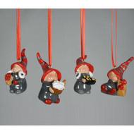 Tomtar Ornament Set - Ceramic 4 Pack (3585)